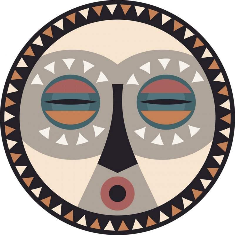 Set de table en vinyle Mask 7 - Podevache - Maison James Close à Antibes