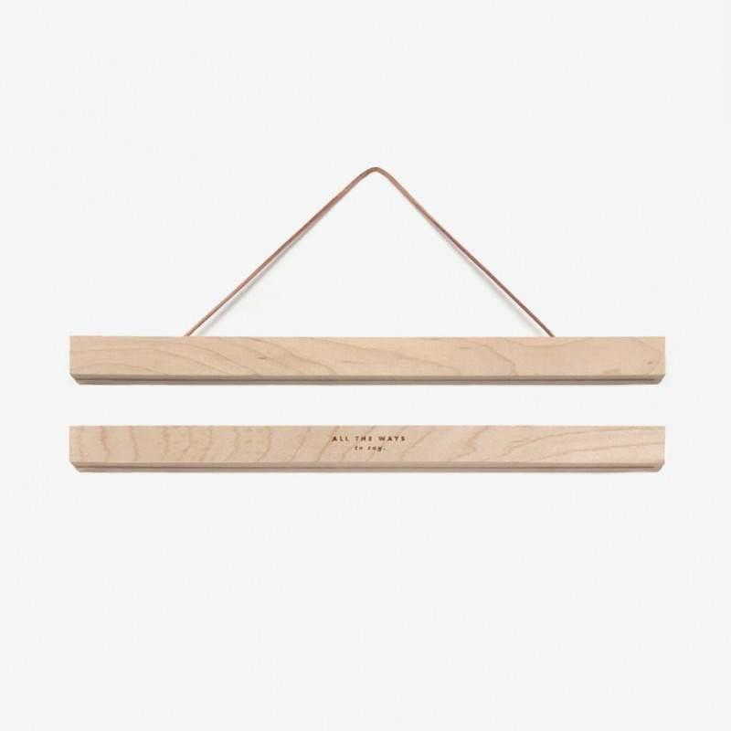 Cadre magnétique en bois 31 cm - Maison James Close à Antibes