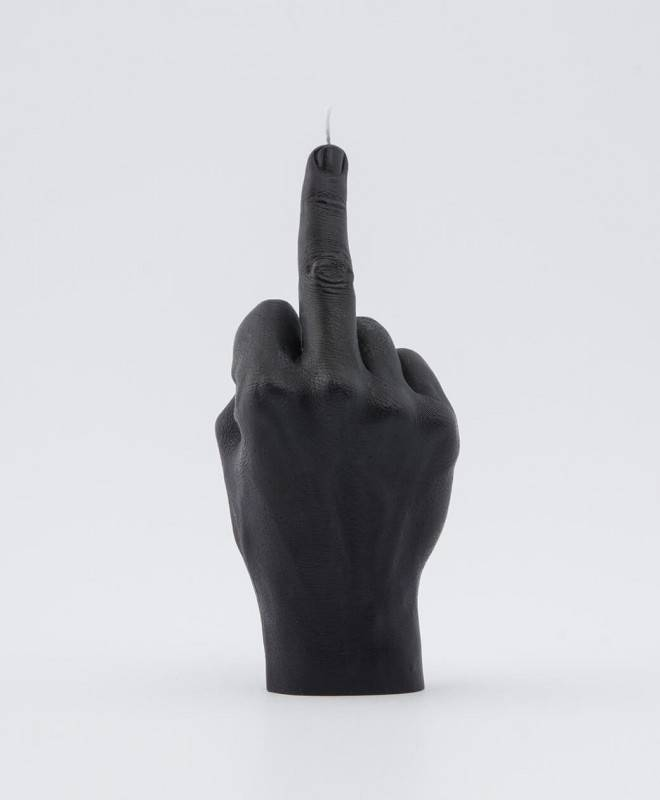 Bougie Main f*** you Noire