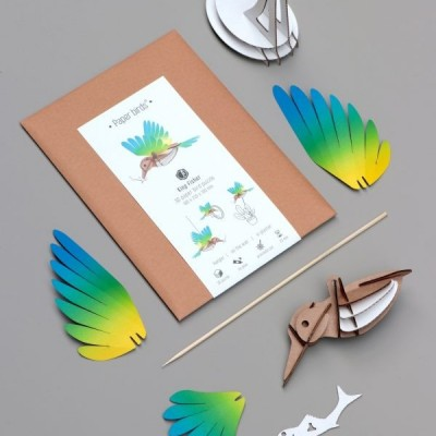 Colibri Jaune & Bleu à Assembler