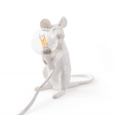 Mouse Lamp Assise Blanche