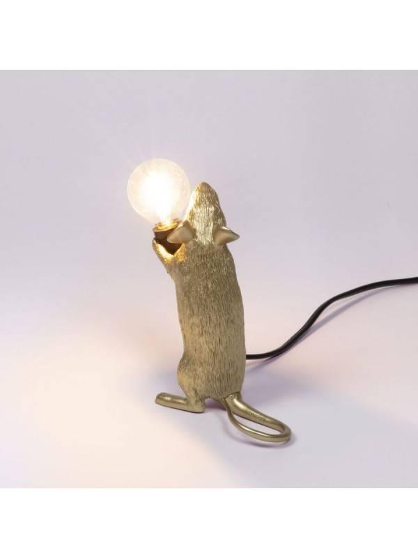 Mouse Lamp Debout Dorée