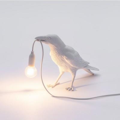 Bird Lamp Waiting Blanc