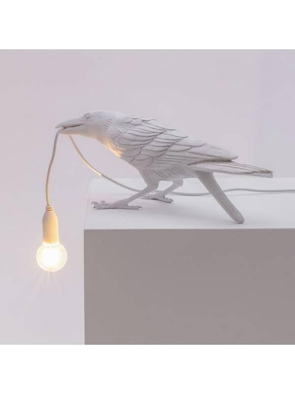 Bird Lamp Playing Blanc