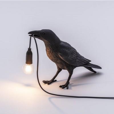 Bird Lamp Outdoor Waiting Noir