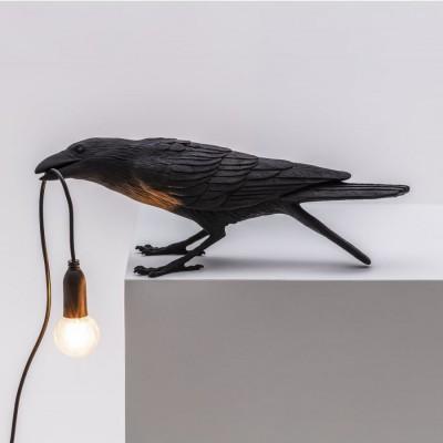 Bird Lamp Outdoor Playing Noir