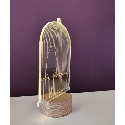 Lampe effet 3D Bird