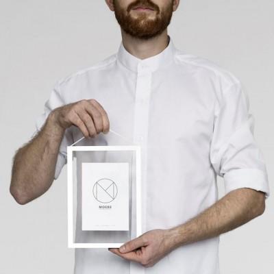 Cadre Photo A5 en metal blanc