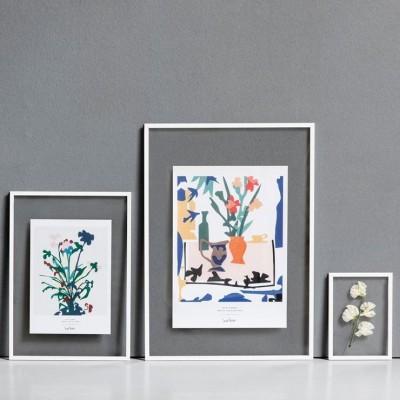 Cadre Photo A4 en metal blanc